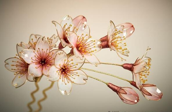 日本发簪 Sakae的蘸花工艺发簪