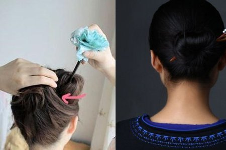 发簪盘发教程,这几种方法很实用