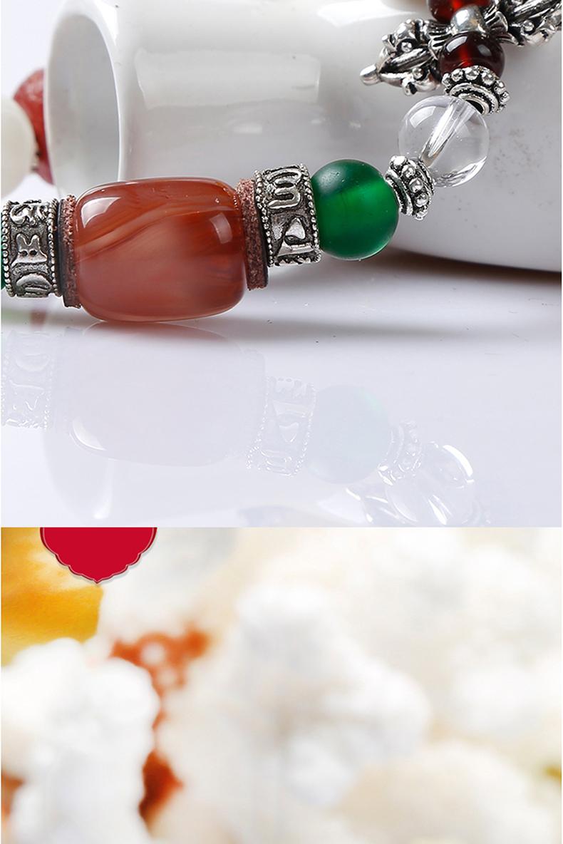 佛家宝石琥珀玛瑙玉髓琉璃青金石手串