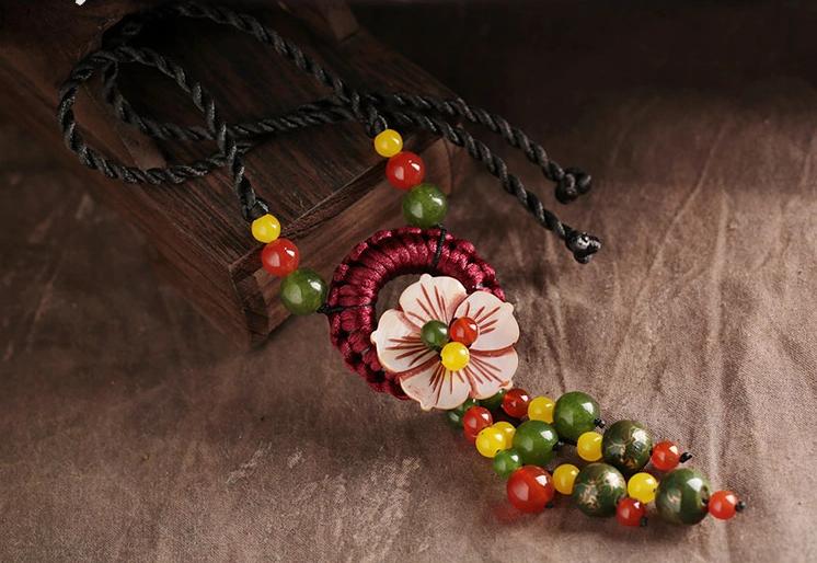 贝壳花民族风复古时尚项链