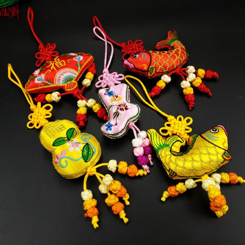古典风刺绣纪念品绣花香包挂件