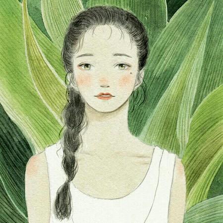 6款文艺清新唯美气质女孩插画图片